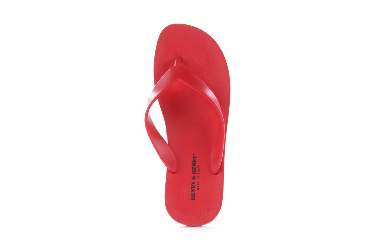 Klapki henry&henry flipper red, czerwony, guma 8