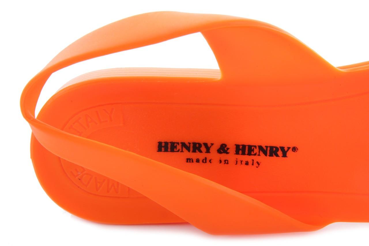 Sandały henry&henry spider orange, pomarańczowe, guma 11