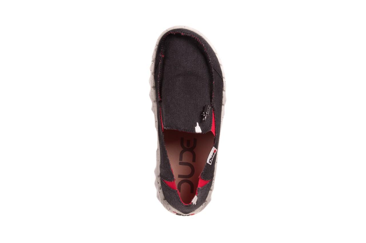 Półbuty heydude farty funk black red, czarny/ czerwony, materiał  - heydude - nasze marki 10