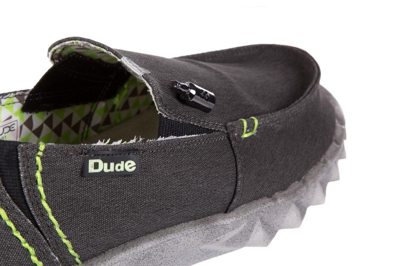 Półbuty heydude farty stretch black, czarny, materiał  - heydude - nasze marki 11
