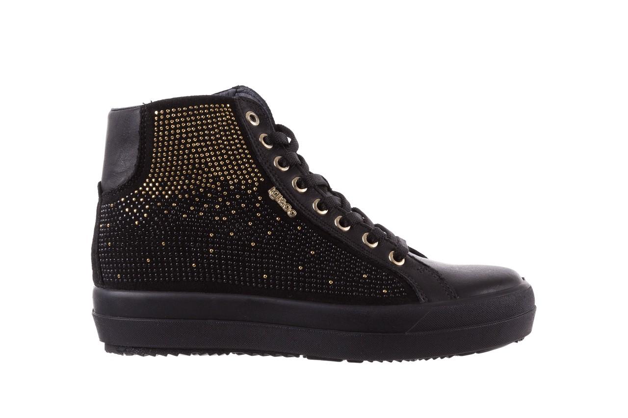 Sneakersy igi&co 8773800 nero, czarny, skóra naturalna 7