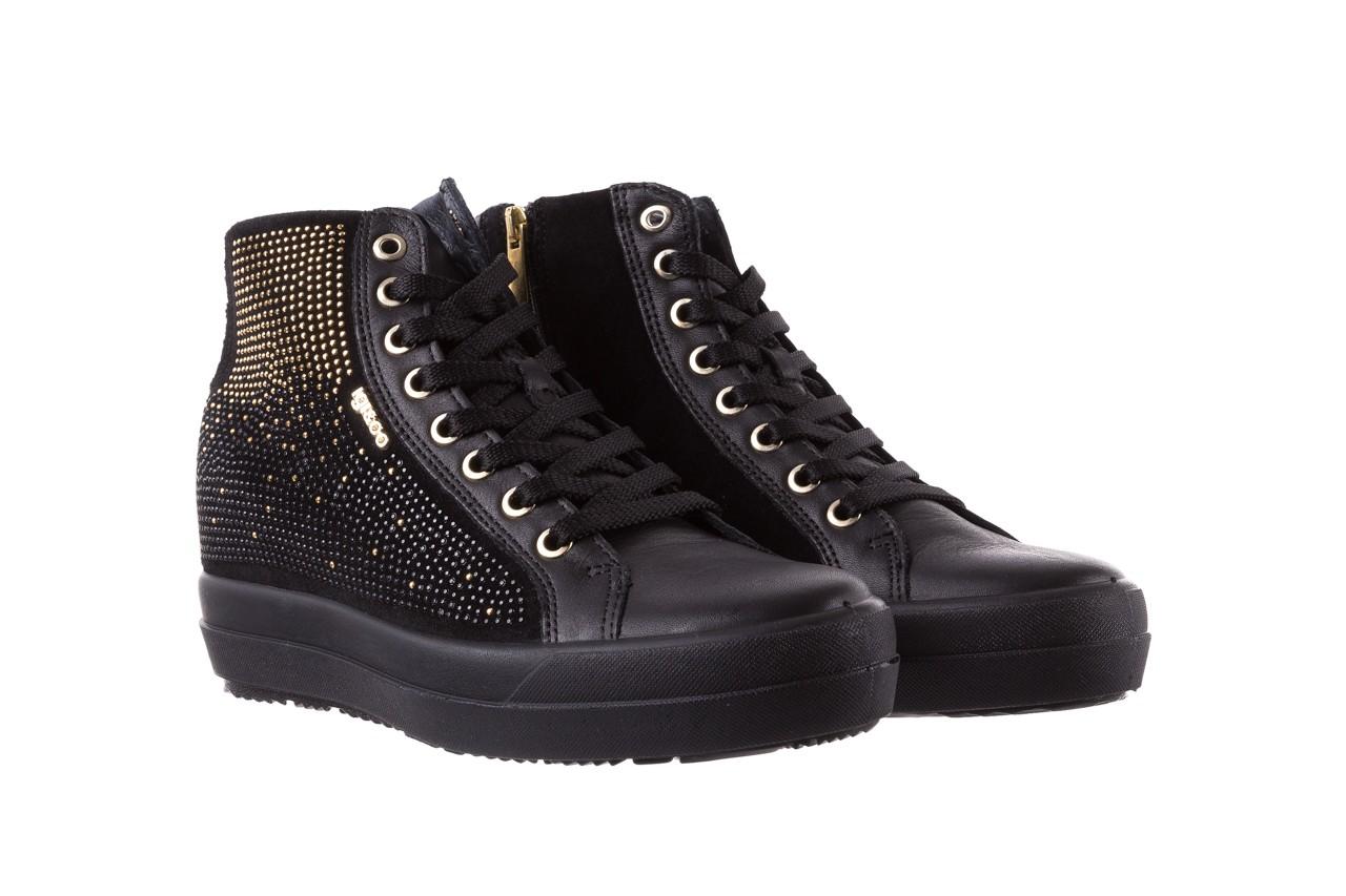 Sneakersy igi&co 8773800 nero, czarny, skóra naturalna  - obuwie sportowe - buty damskie - kobieta 8