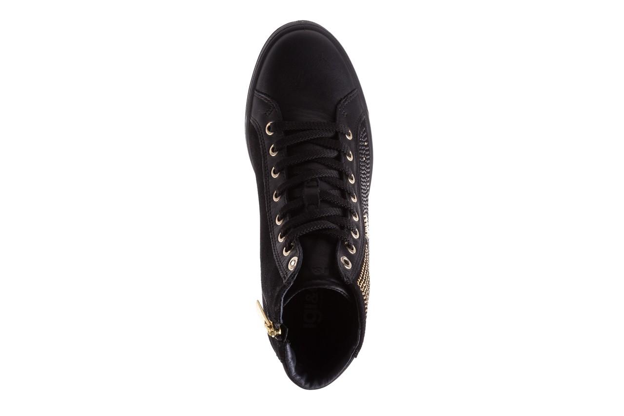Sneakersy igi&co 8773800 nero, czarny, skóra naturalna 11