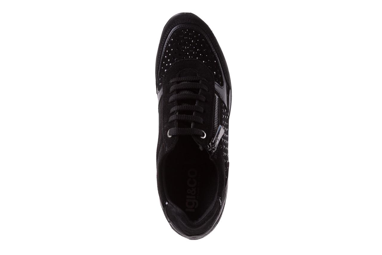 Sneakersy igi&co 8786400 nero, czarny, skóra naturalna 11