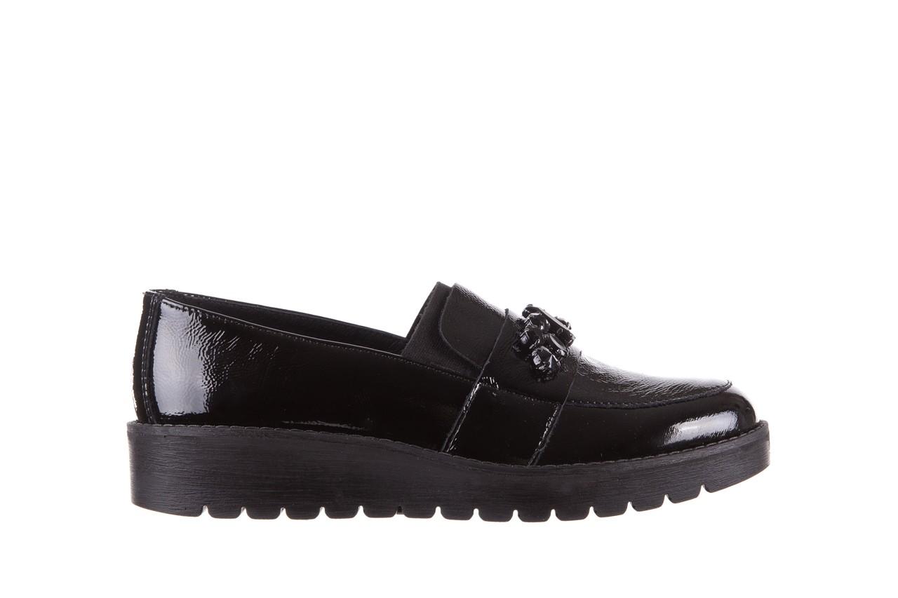 Mokasyny imac 205660 black, czarny, skóra naturalna lakierowana  - na koturnie - półbuty - buty damskie - kobieta 6