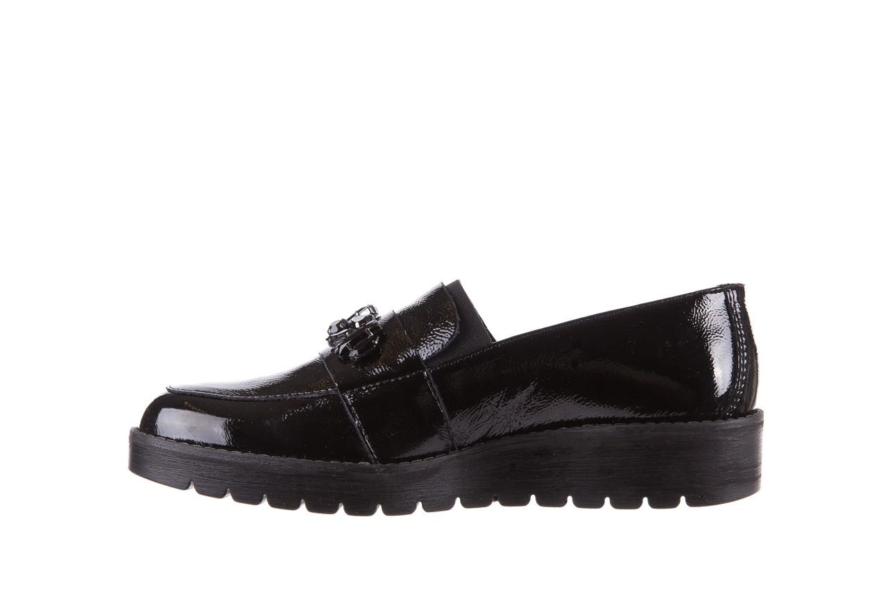 Mokasyny imac 205660 black, czarny, skóra naturalna lakierowana  - na koturnie - półbuty - buty damskie - kobieta 8