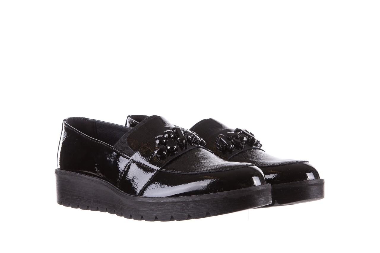 Mokasyny imac 205660 black, czarny, skóra naturalna lakierowana  - na koturnie - półbuty - buty damskie - kobieta 7