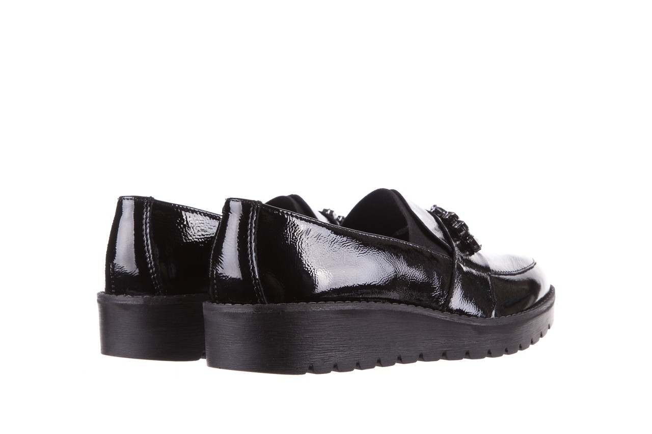 Mokasyny imac 205660 black, czarny, skóra naturalna lakierowana  - na koturnie - półbuty - buty damskie - kobieta 9