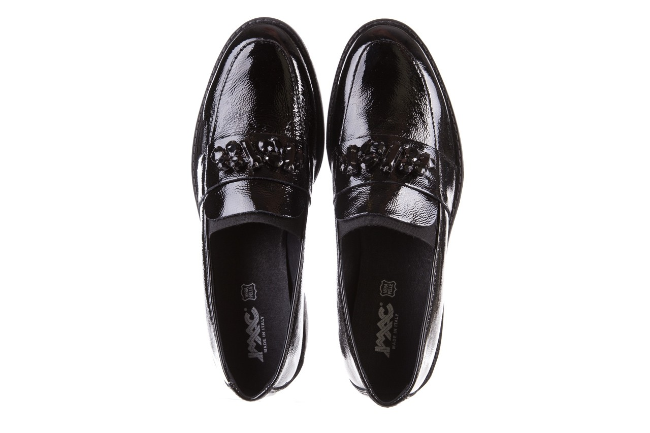 Mokasyny imac 205660 black, czarny, skóra naturalna lakierowana  - na koturnie - półbuty - buty damskie - kobieta 10