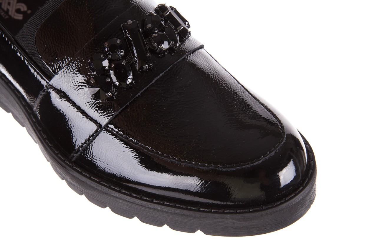 Mokasyny imac 205660 black, czarny, skóra naturalna lakierowana  - na koturnie - półbuty - buty damskie - kobieta 11