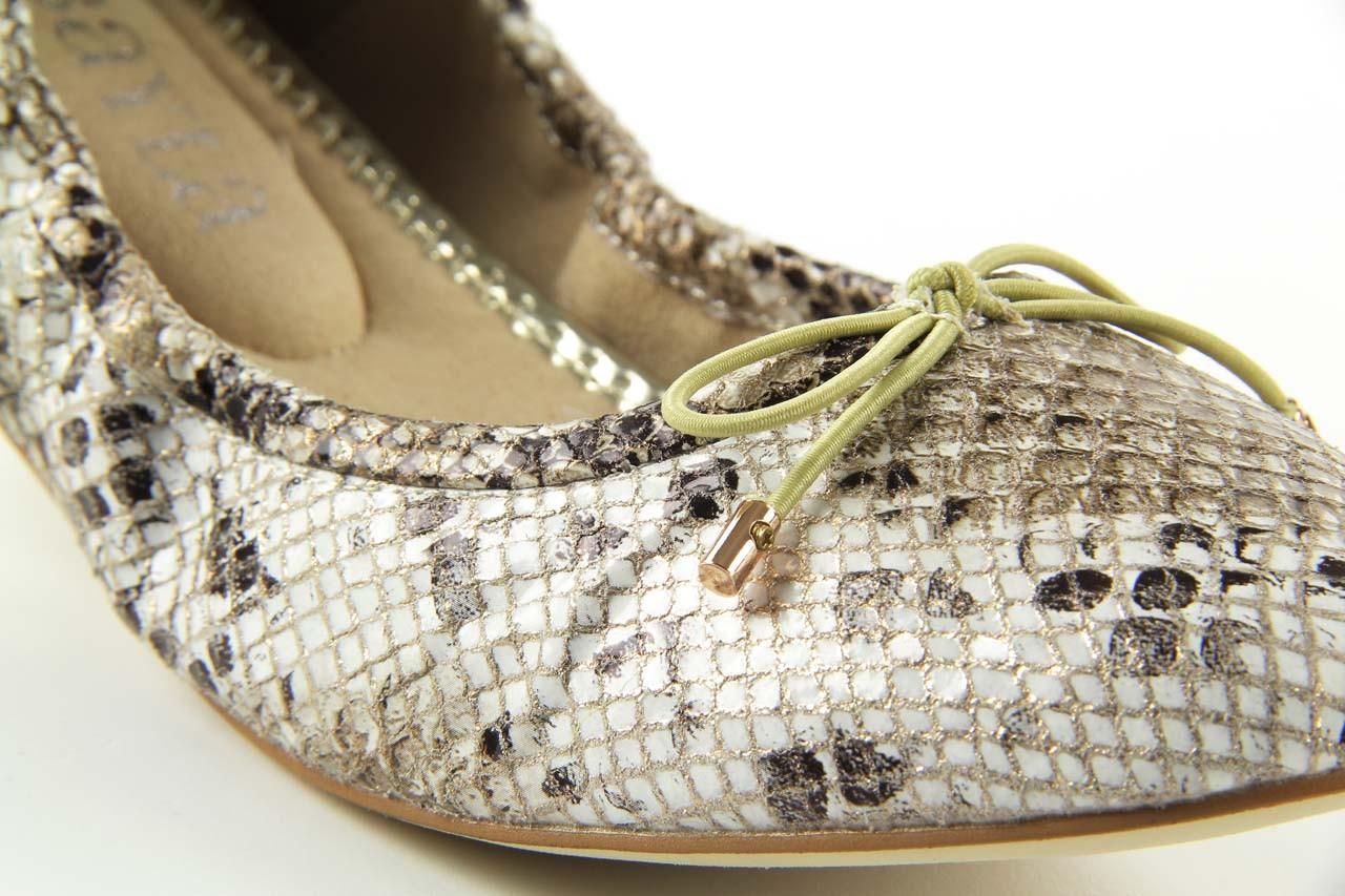 Baleriny bayla 1611-2 off white, biały/beż, skóra ekologiczna - bayla - nasze marki 9