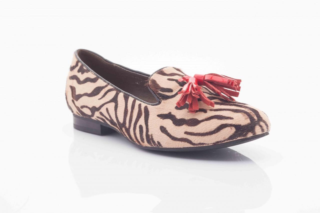 Lordsy bayla 1133-46 beige zebra red, beż/ brąz, futro naturalne - bayla - nasze marki 5