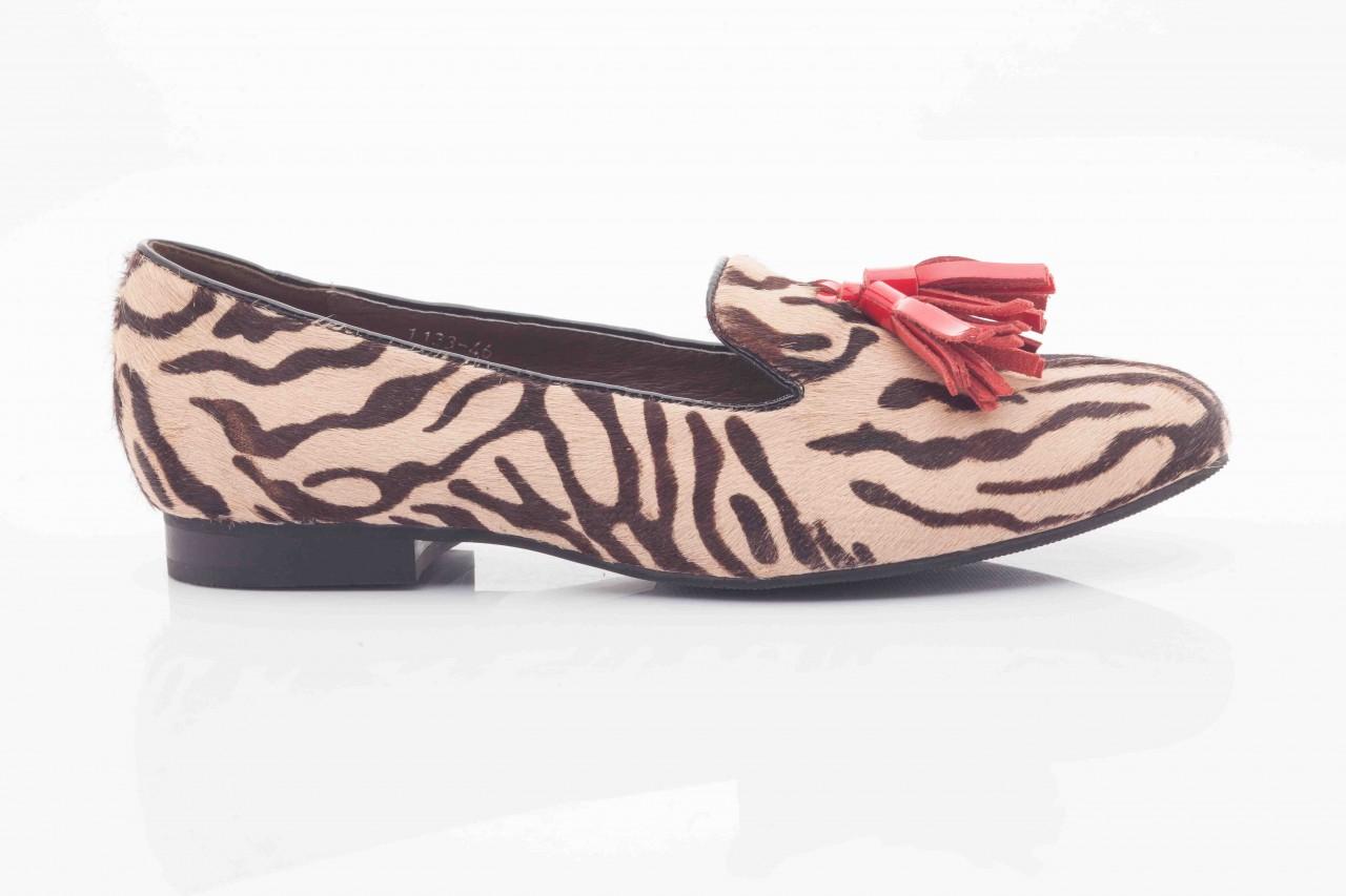 Lordsy bayla 1133-46 beige zebra red, beż/ brąz, futro naturalne - bayla - nasze marki 7
