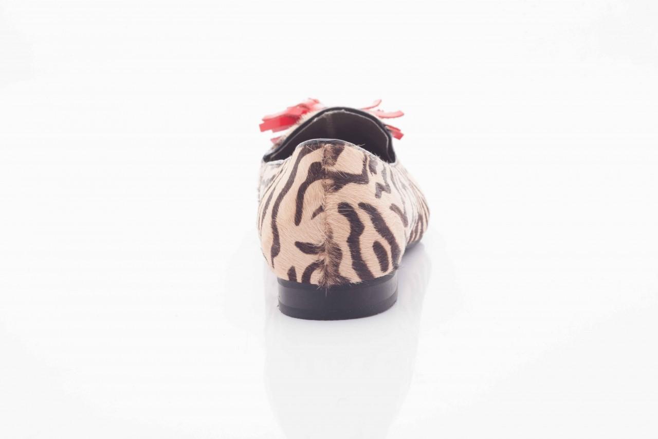 Lordsy bayla 1133-46 beige zebra red, beż/ brąz, futro naturalne - bayla - nasze marki 6