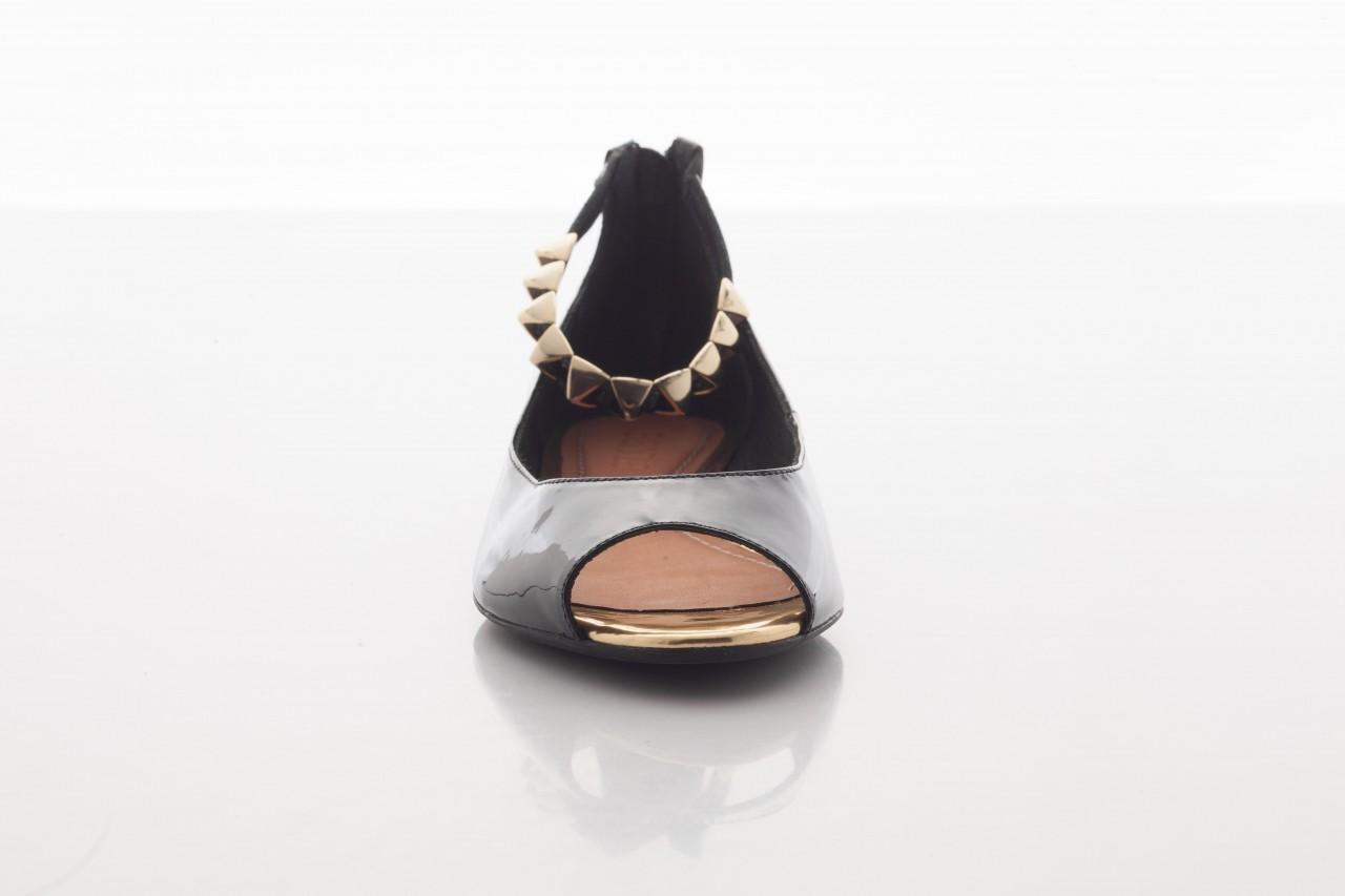 Baleriny bayla-cr 100020 vz spe black gold, czarny, skóra naturalna lakierowana - bayla - nasze marki 8
