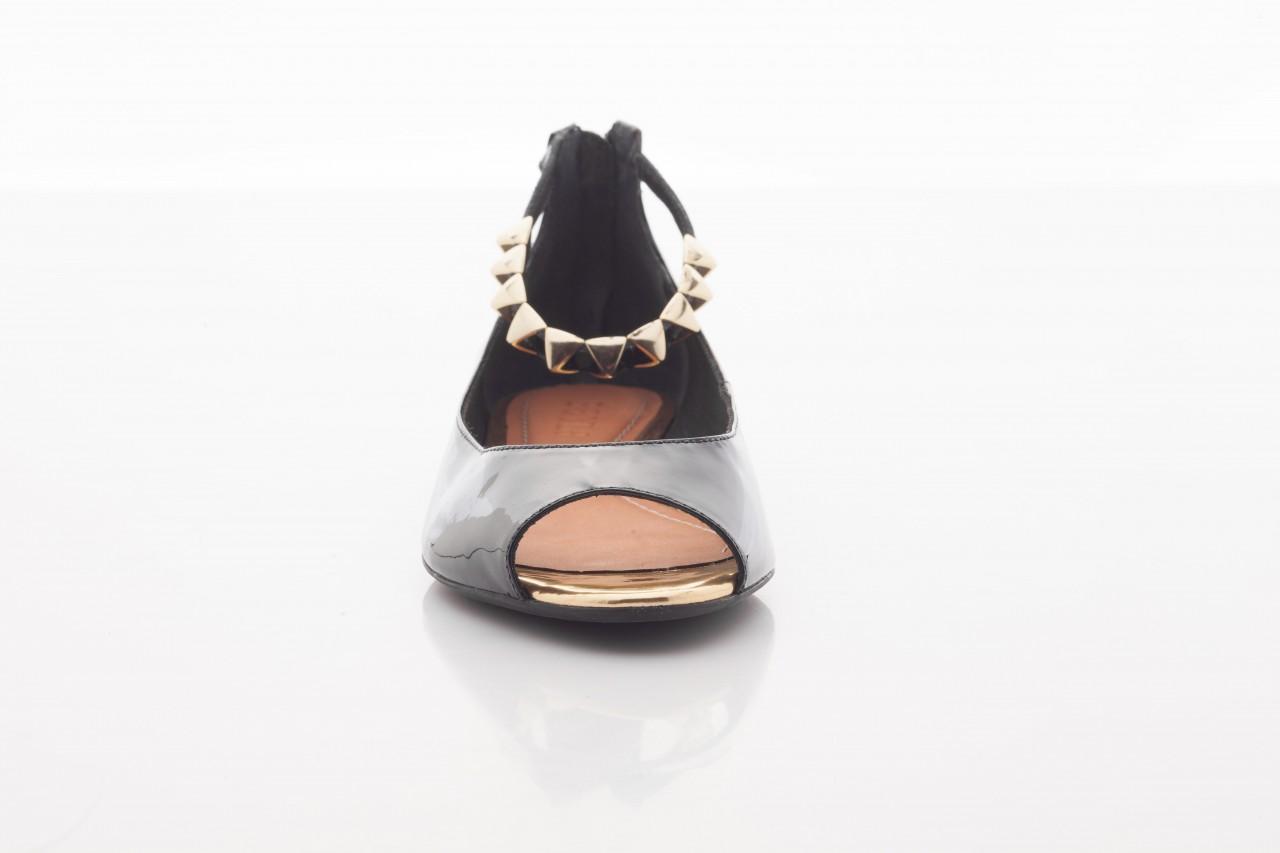 Baleriny bayla-cr 100020 vz spe black gold, czarny, skóra naturalna lakierowana - bayla - nasze marki 10