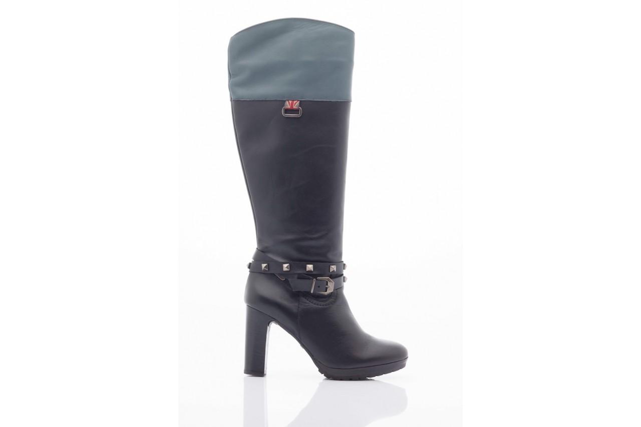 Kozaki pepe jeans pfs50351 999 black, czarny, skóra naturalna - pepe jeans  - nasze marki 6