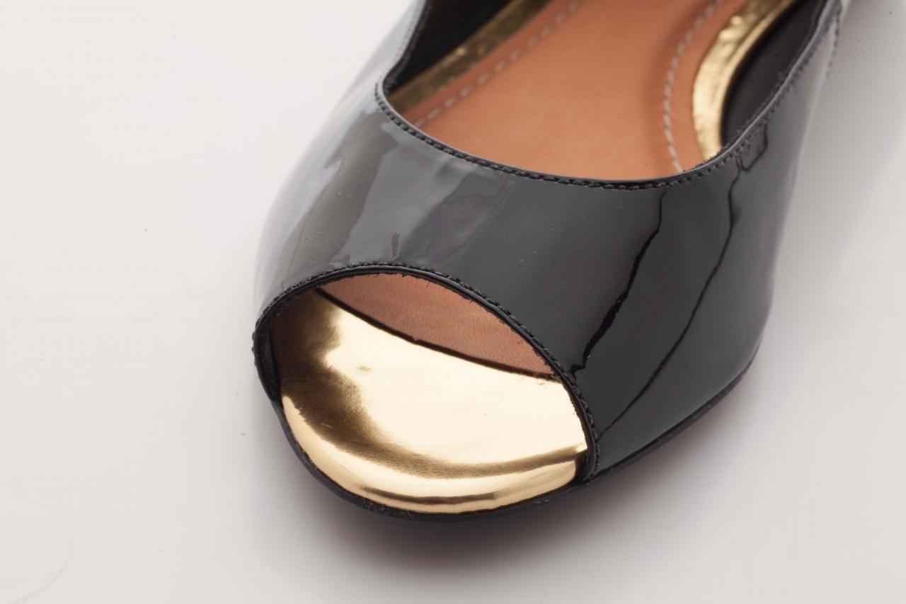 Baleriny bayla-cr 100020 vz spe black gold, czarny, skóra naturalna lakierowana - bayla - nasze marki 11