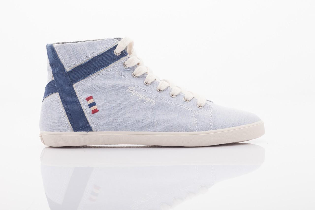 Trampki napapijri 0674010 lt. blue, niebieskie, materiał  - wysokie - trampki - buty damskie - kobieta 5