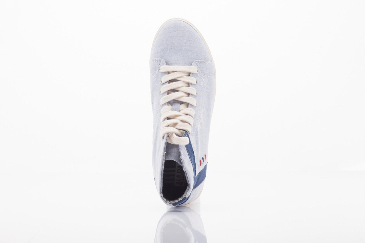Trampki napapijri 0674010 lt. blue, niebieskie, materiał  - wysokie - trampki - buty damskie - kobieta 7