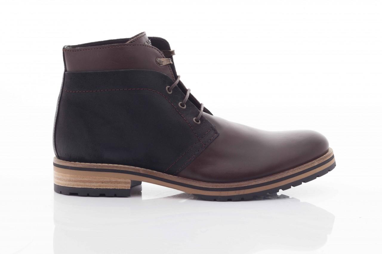 Trzewiki armani jeans u6593 brown-black, brąz/ czarny, skóra naturalna  - wizytowe - trzewiki - buty męskie - mężczyzna 7
