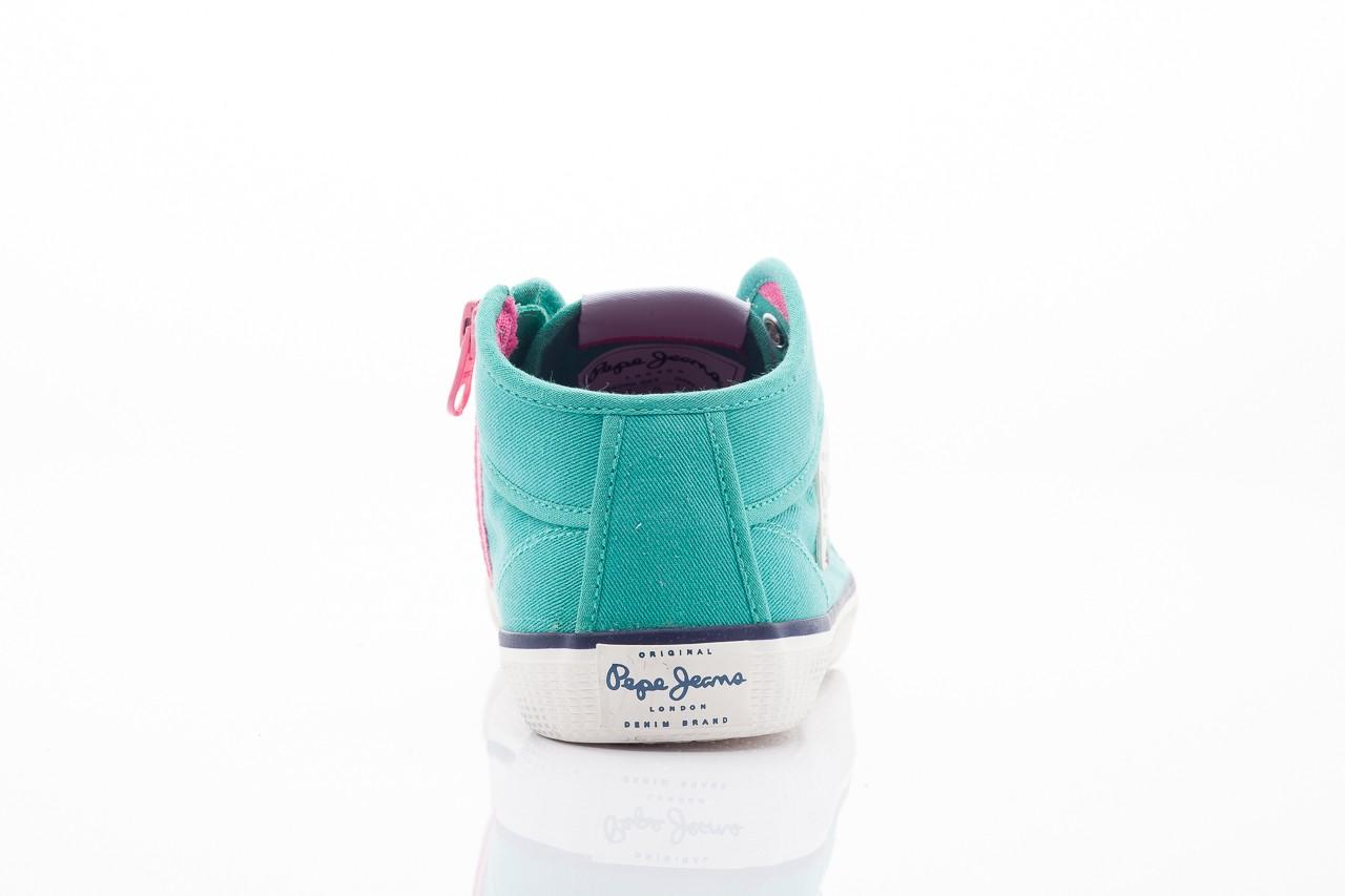 Trampki pepe jeans pfs50299 553 green, zielony, materiał - pepe jeans  - nasze marki 8