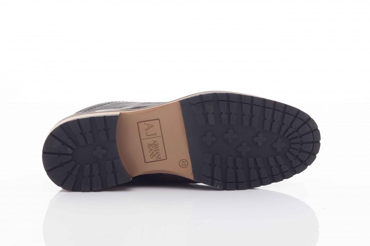 Trzewiki armani jeans u6593 brown-black, brąz/ czarny, skóra naturalna  - wizytowe - trzewiki - buty męskie - mężczyzna 8