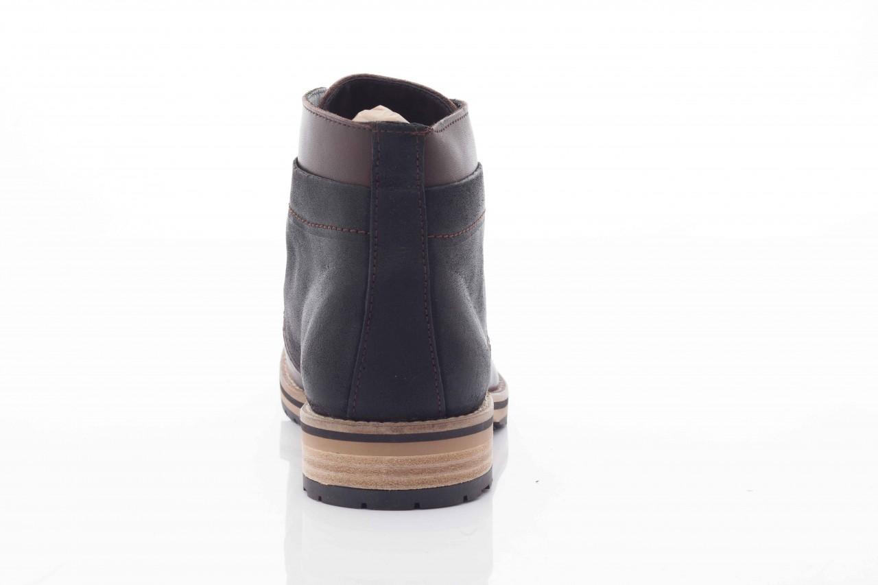 Trzewiki armani jeans u6593 brown-black, brąz/ czarny, skóra naturalna  - wizytowe - trzewiki - buty męskie - mężczyzna 9