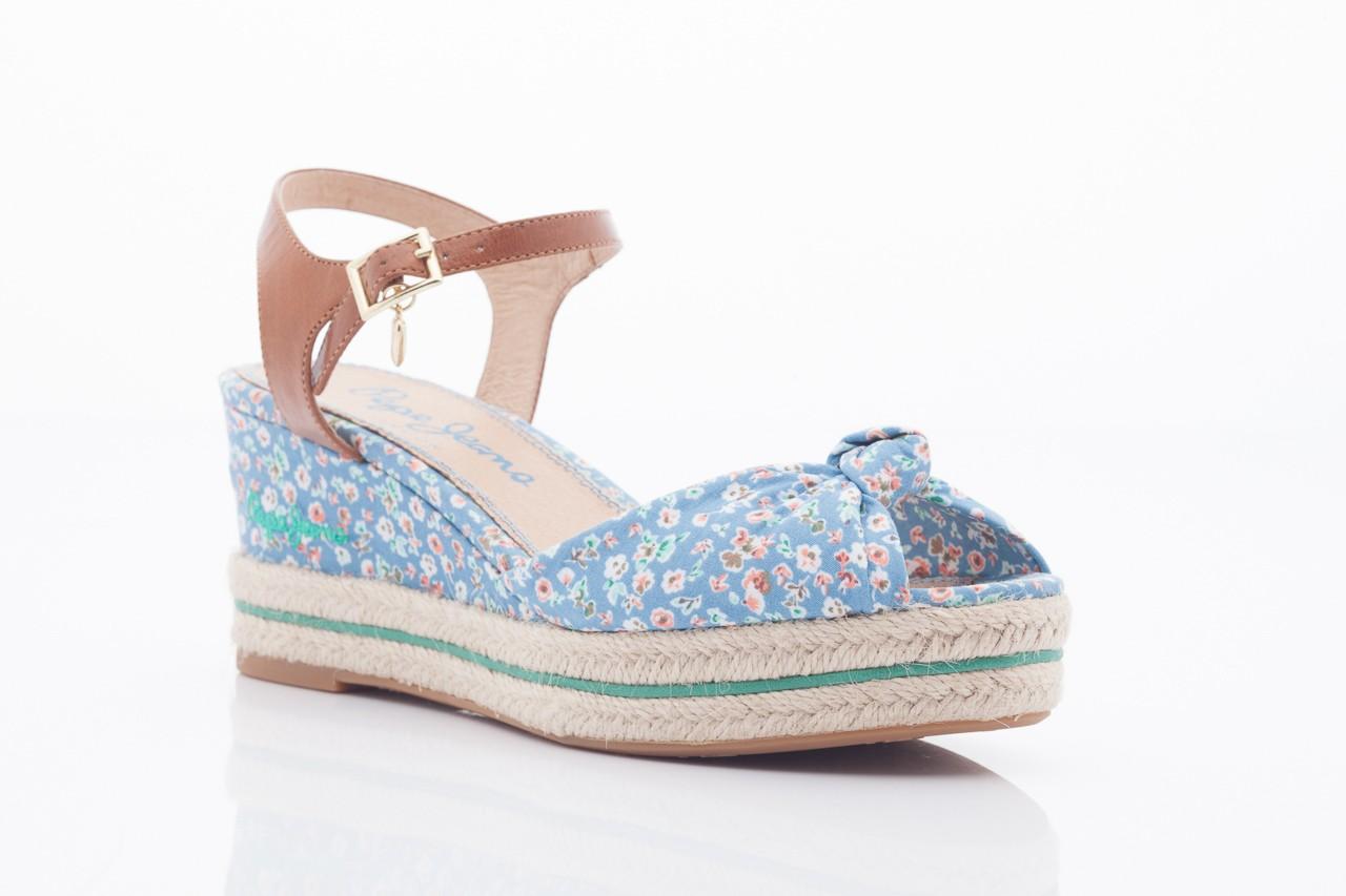 Sandały pepe jeans pfs90202 561 indigo, niebieskie, materiał  - na platformie - sandały - buty damskie - kobieta 9