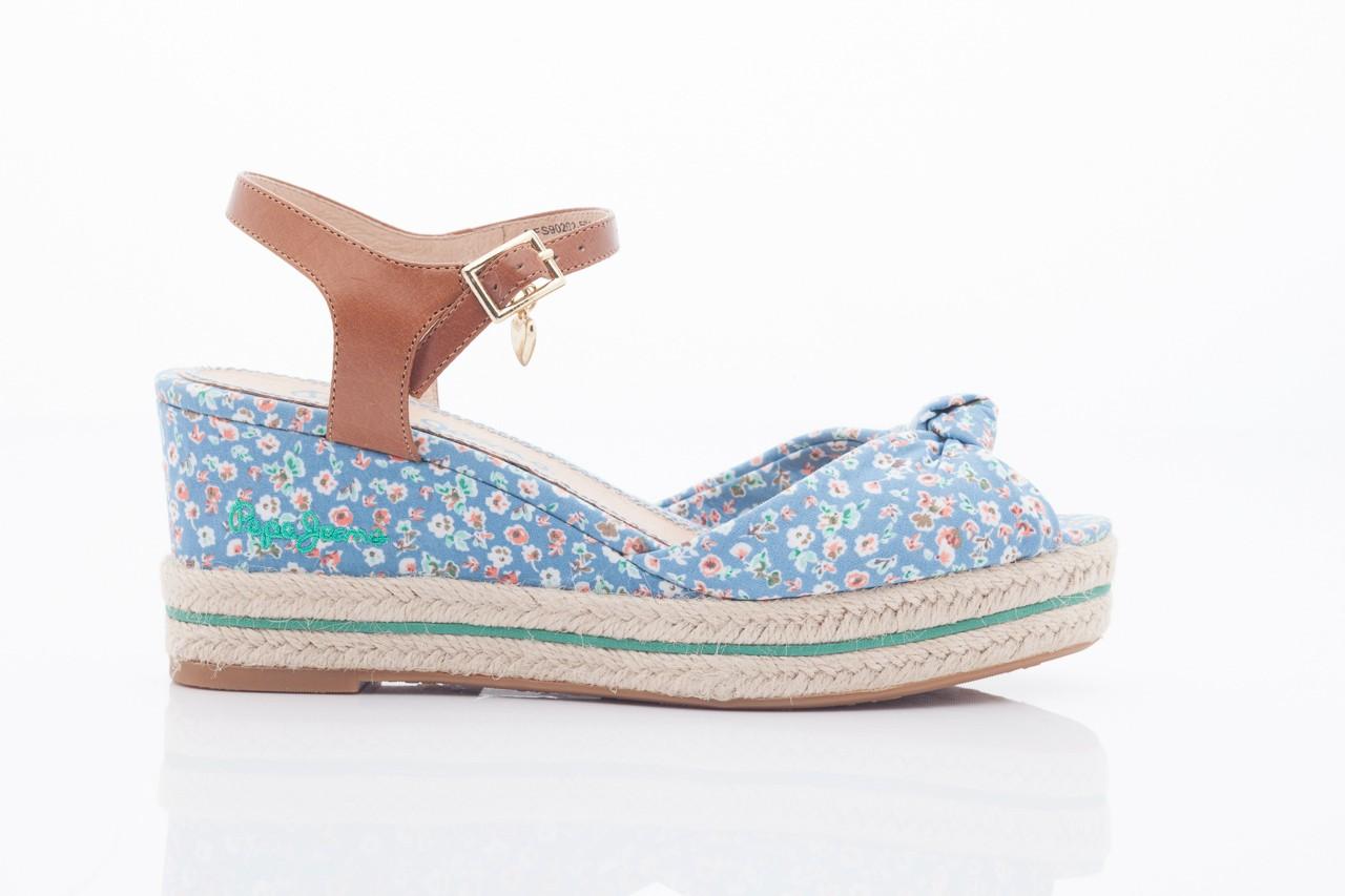 Sandały pepe jeans pfs90202 561 indigo, niebieskie, materiał  - na platformie - sandały - buty damskie - kobieta 6
