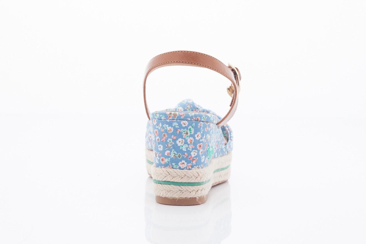 Sandały pepe jeans pfs90202 561 indigo, niebieskie, materiał  - na platformie - sandały - buty damskie - kobieta 8