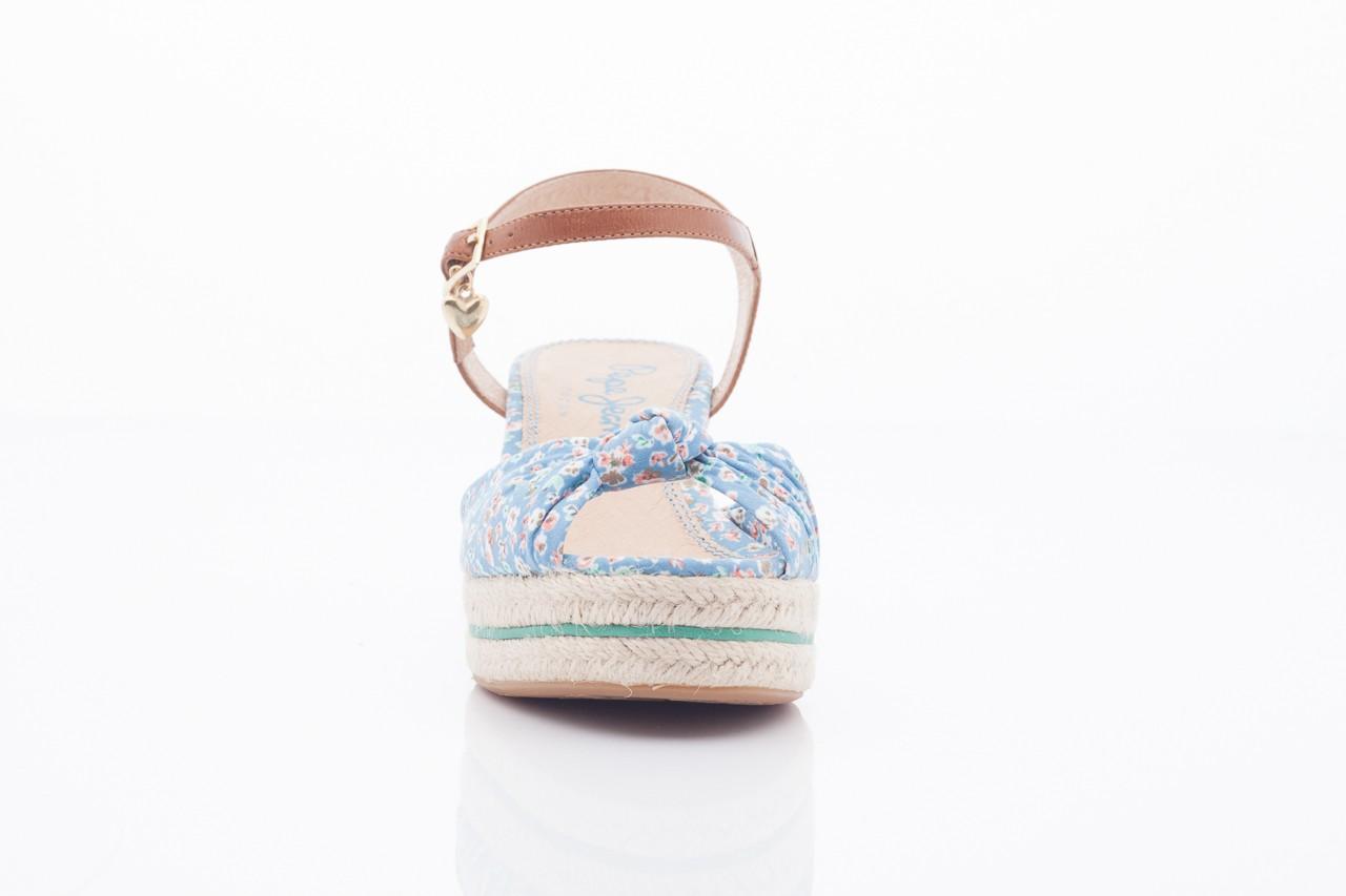 Sandały pepe jeans pfs90202 561 indigo, niebieskie, materiał  - na platformie - sandały - buty damskie - kobieta 7