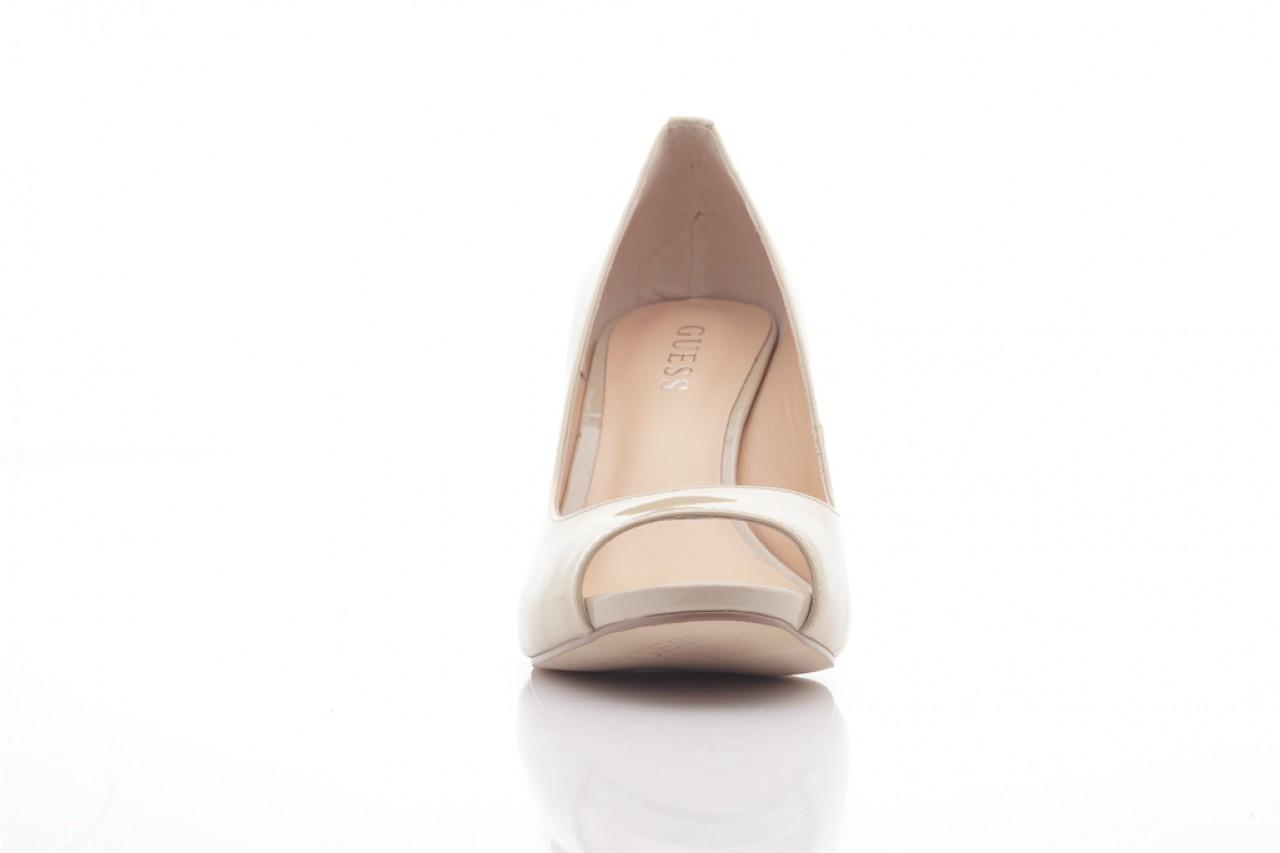 Szpilki guess fl1harpat07 sand, bez, skóra naturalna lakierowana - peep toe - szpilki - buty damskie - kobieta 8