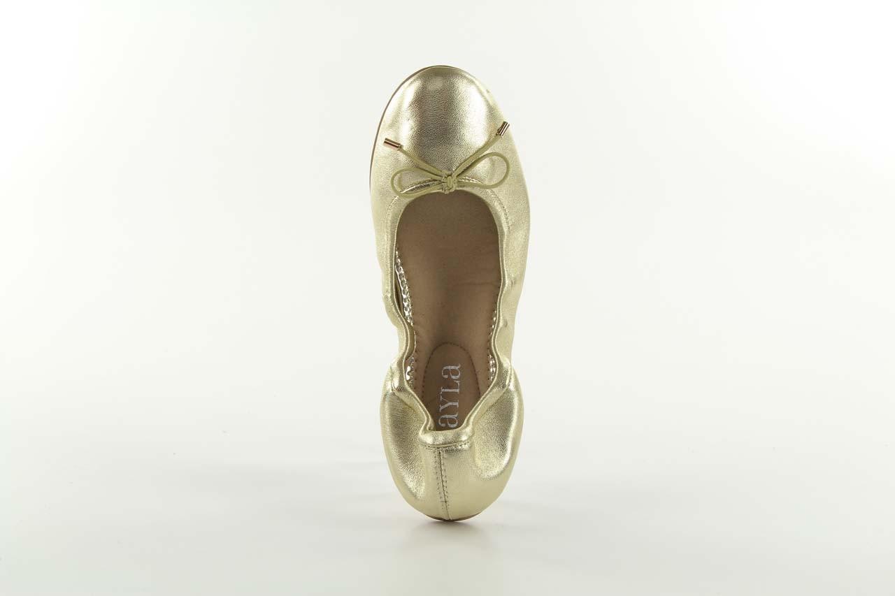 Baleriny bayla 1611-2 gold-beige, złoty/beż, skóra naturalna - bayla - nasze marki 8