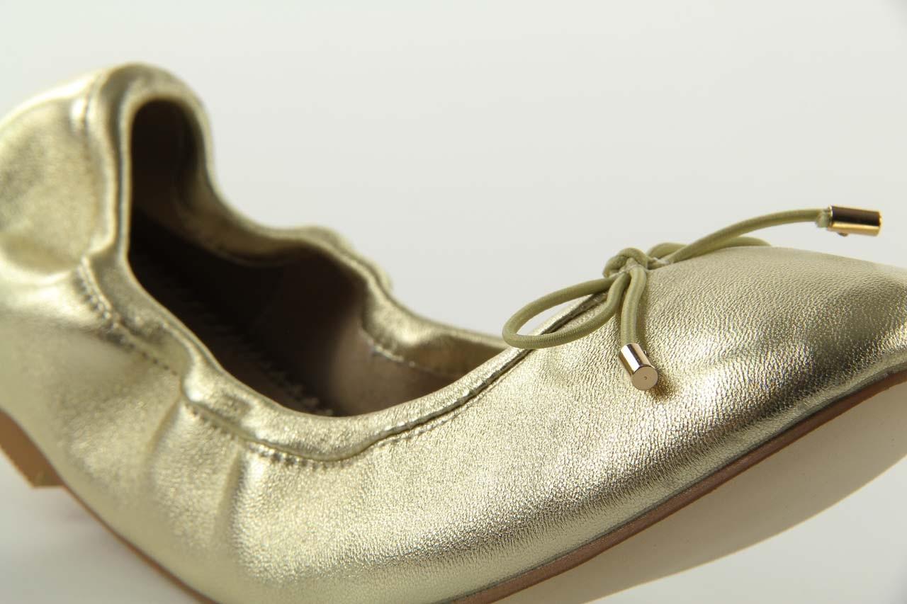 Baleriny bayla 1611-2 gold-beige, złoty/beż, skóra naturalna - bayla - nasze marki 9