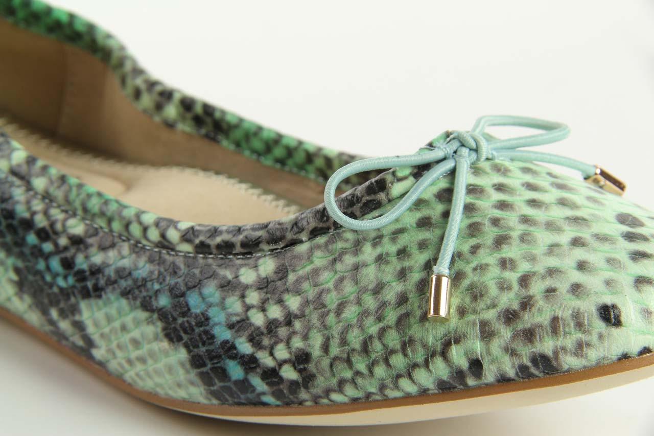 Baleriny bayla 1611-2 light green-black, zielony, skóra naturalna - bayla - nasze marki 9