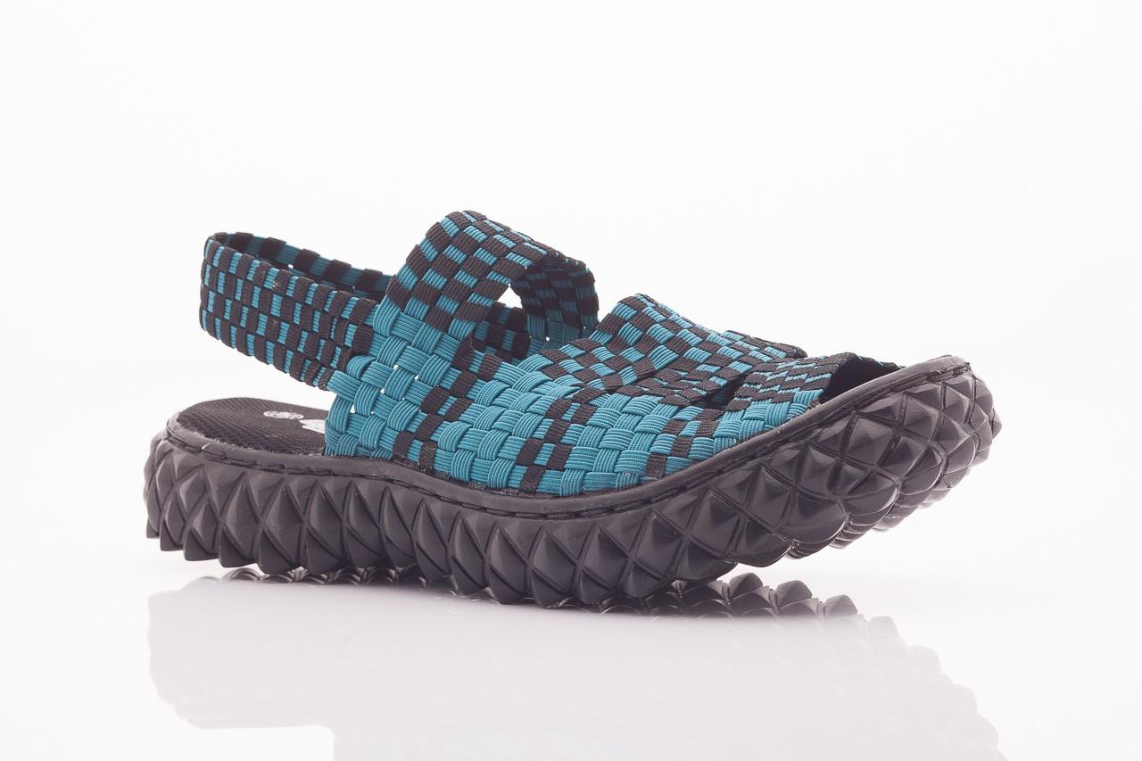 Sandały rock sandal 4 petrol-black, niebieskie/ czarny, materiał  - rock - nasze marki 10