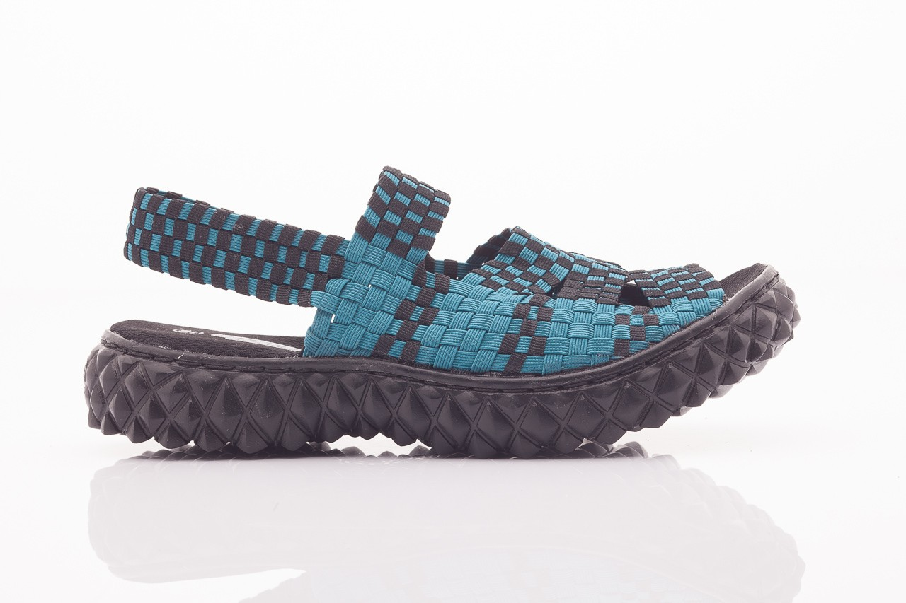 Sandały rock sandal 4 petrol-black, niebieskie/ czarny, materiał  - rock - nasze marki 11