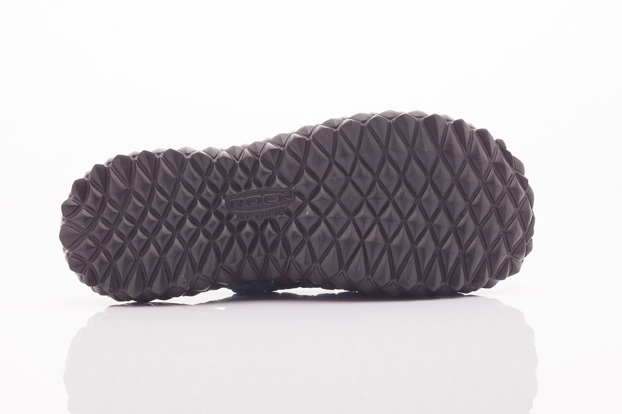 Sandały rock sandal 4 petrol-black, niebieskie/ czarny, materiał  - rock - nasze marki 9