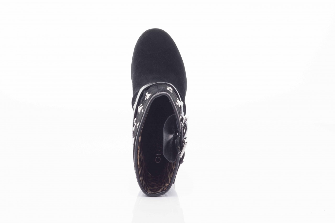 Botki guess fl4arilea12 black, czarny, skóra naturalna  - biker - botki - buty damskie - kobieta 8