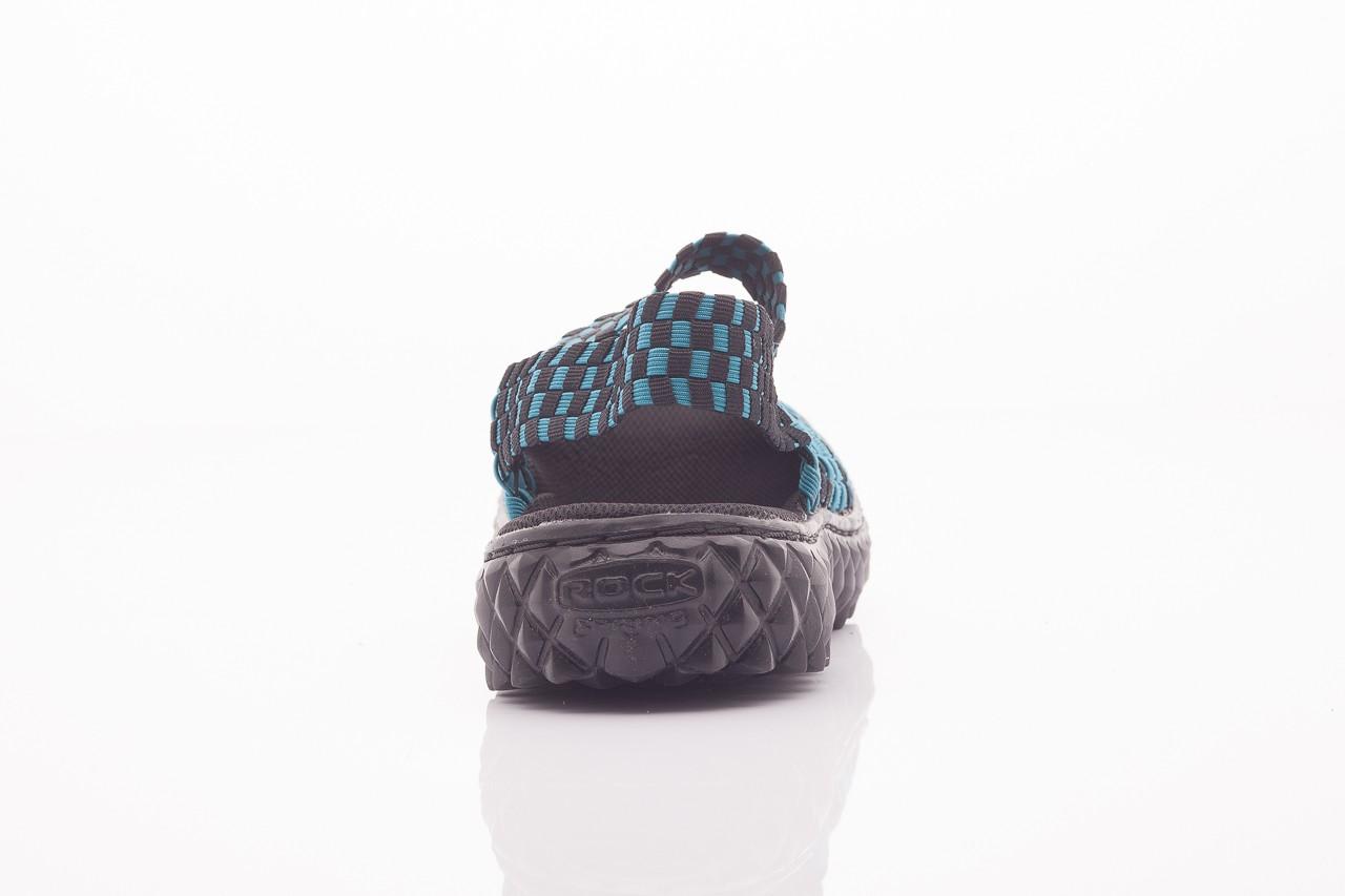 Sandały rock sandal 4 petrol-black, niebieskie/ czarny, materiał  - rock - nasze marki 8