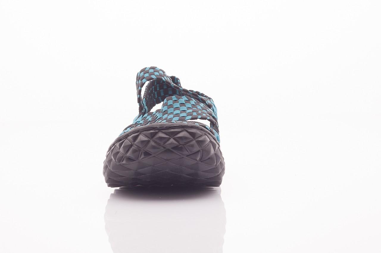 Sandały rock sandal 4 petrol-black, niebieskie/ czarny, materiał  - rock - nasze marki 6