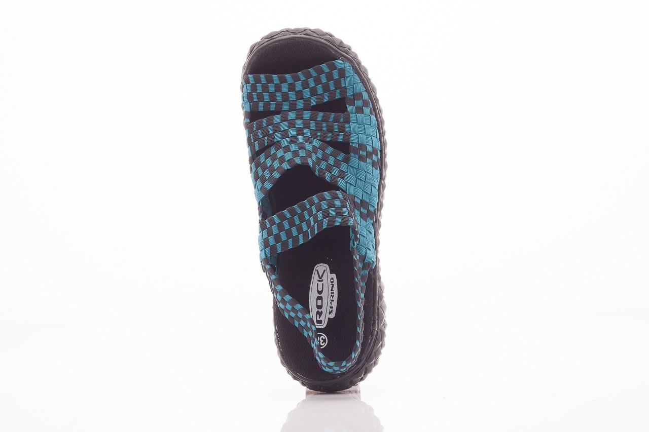 Sandały rock sandal 4 petrol-black, niebieskie/ czarny, materiał  - rock - nasze marki 7