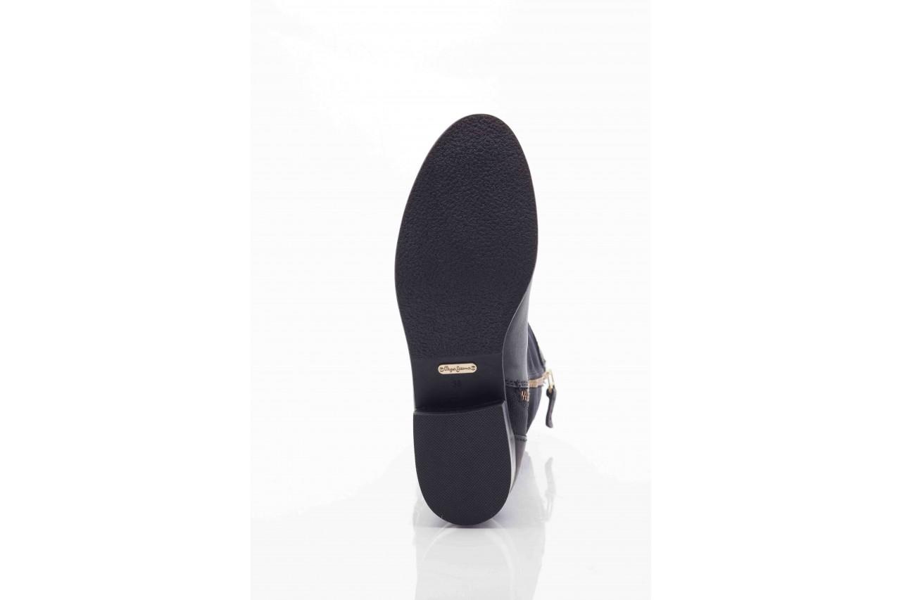 Kozaki pepe jeans pfs50438 999 black, czarny, skóra naturalna - pepe jeans  - nasze marki 9