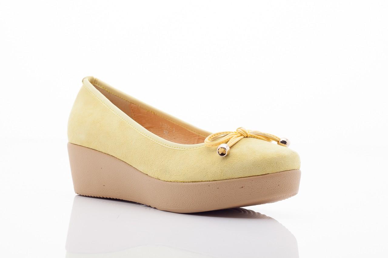 Baleriny bayla 1302-3 yellow kid suede pat, żółty, skóra naturalna - bayla - nasze marki 9