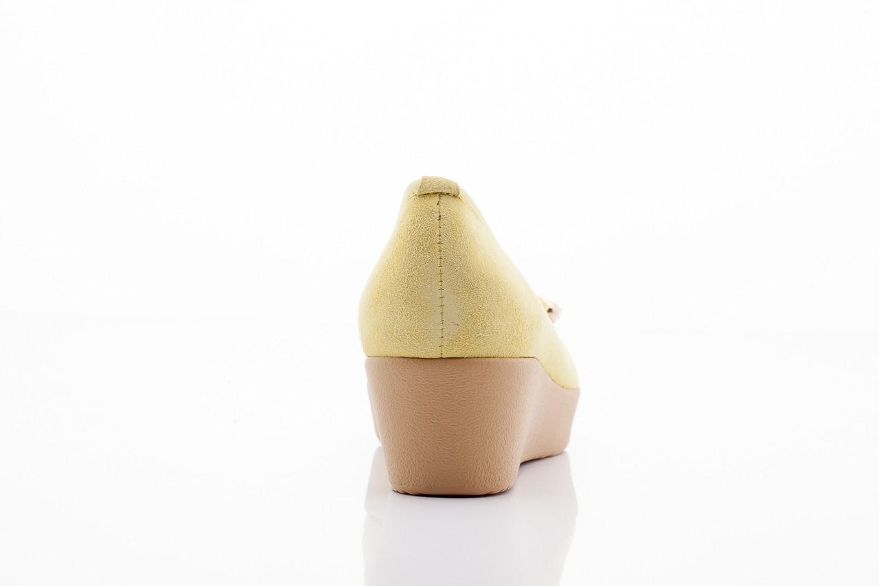 Baleriny bayla 1302-3 yellow kid suede pat, żółty, skóra naturalna - bayla - nasze marki 6