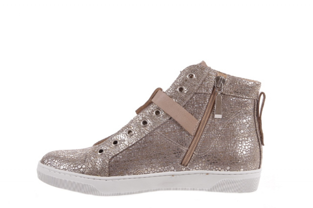 Trampki bayla-156 4079 diamonds grey buewax coco, złoto, skóra naturalna  - trampki - dla niej  - sale 7