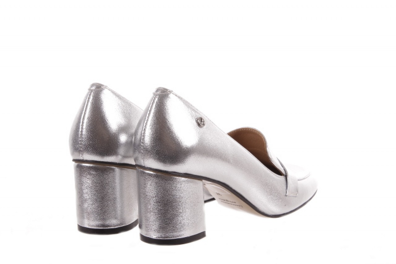 Czółenka bayla-156 2677 srebro, skóra naturalna  - bayla - nasze marki 8