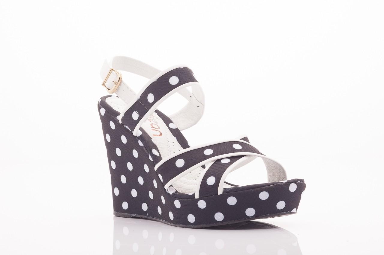 Sandały dijean 753 518 black poa-white, czarny, skóra ekologiczna/ materiał - na platformie - sandały - buty damskie - kobieta 9
