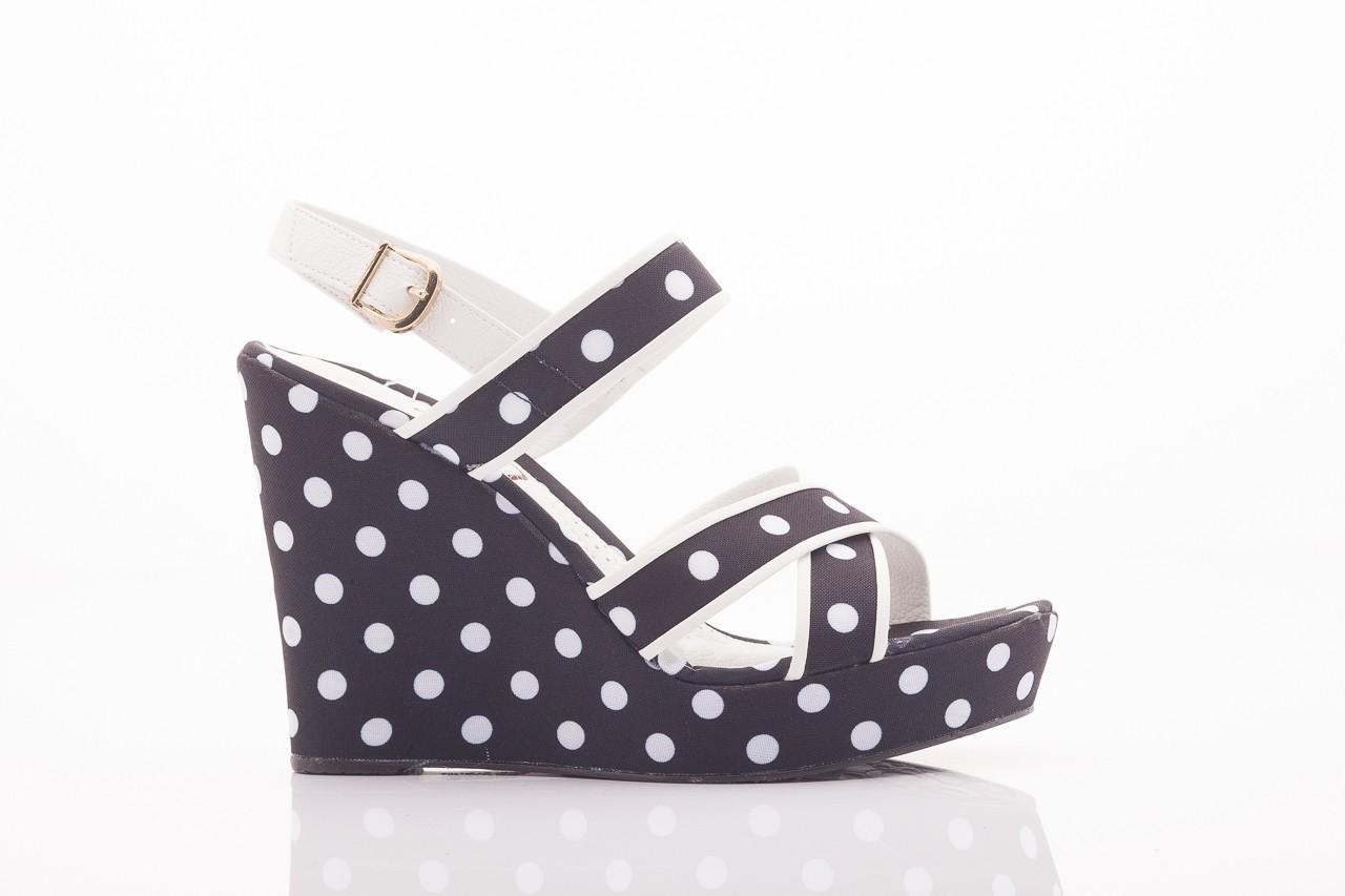 Sandały dijean 753 518 black poa-white, czarny, skóra ekologiczna/ materiał - na platformie - sandały - buty damskie - kobieta 7